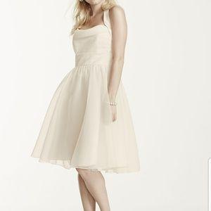 David's Bridal Prom Bridesmaids Dress Blush 10